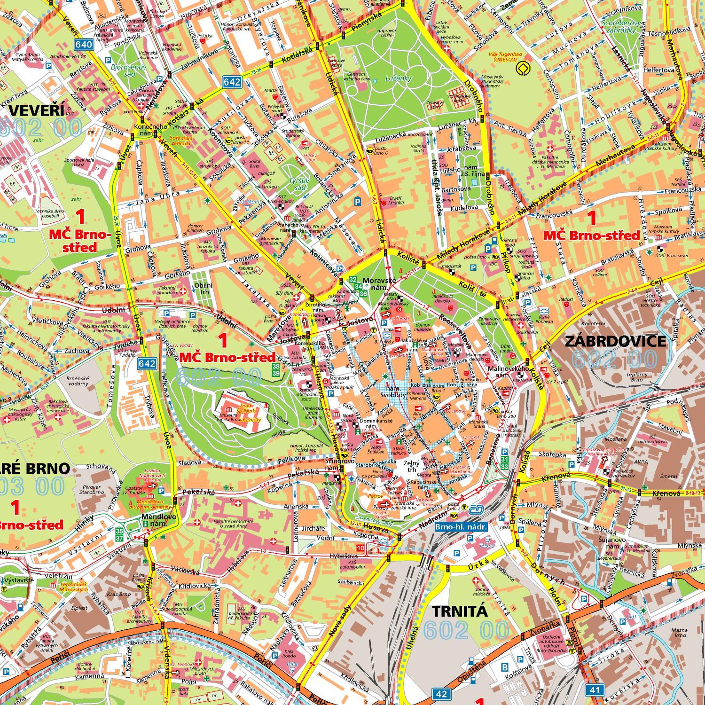 Mapa brna ke stažení